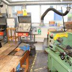 Back of metal workshop