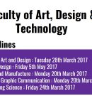 Faculty of Art, Design and Technology : Deadlines