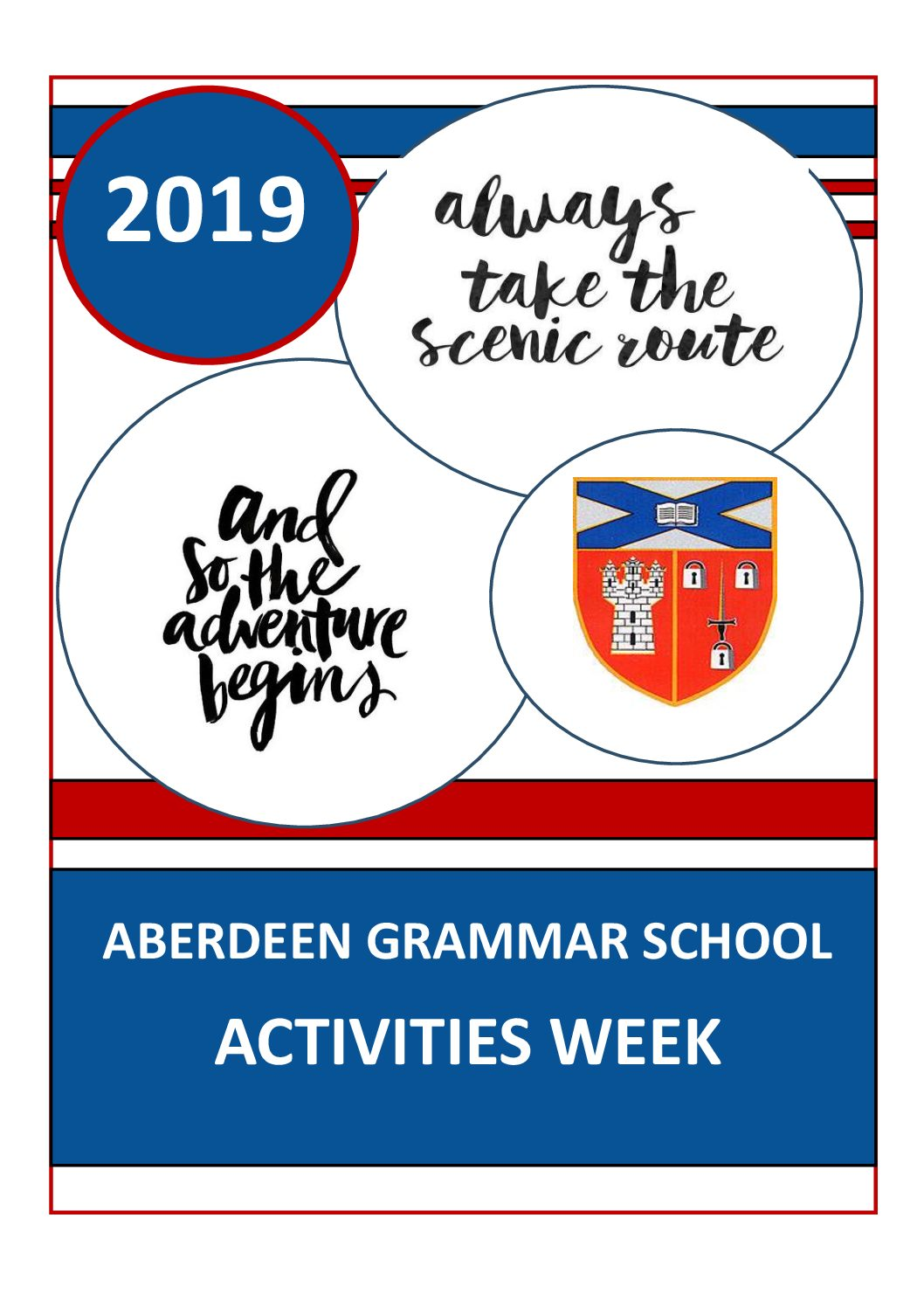 S1/S2 Activities Week  – May 20th until May 24th 2019